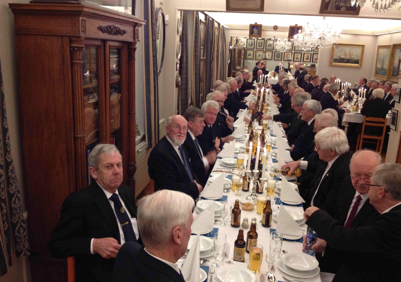 De tradisjonelle torskeaftene samler alltid fullt hus. Her 77 mann til stede.